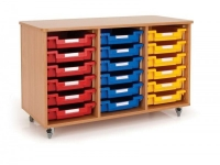 18 Tray Tote Trolley On Castors
