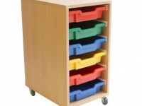 6 Tray Tote Trolley On Castors