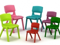 CHAIR, PUPIL, ALL POLYPROPYLENE CONSTRUCTION, STACKING