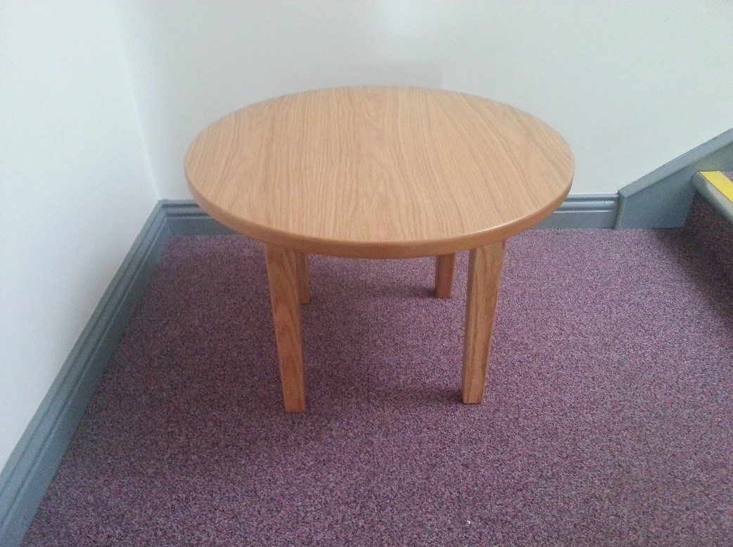 Circular Coffee Table For Use With Tub Chairs