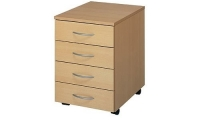 Desk high mobile pedestal 4 drawer