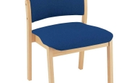 Reception chairs, wooden frame, without arms