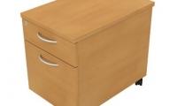 Under desk mobile pedestal 1 drawer and 1 filing drawer