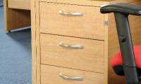 Under desk mobile pedestal 3 drawer